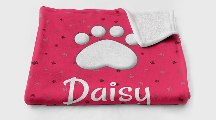 Custom pet blanket