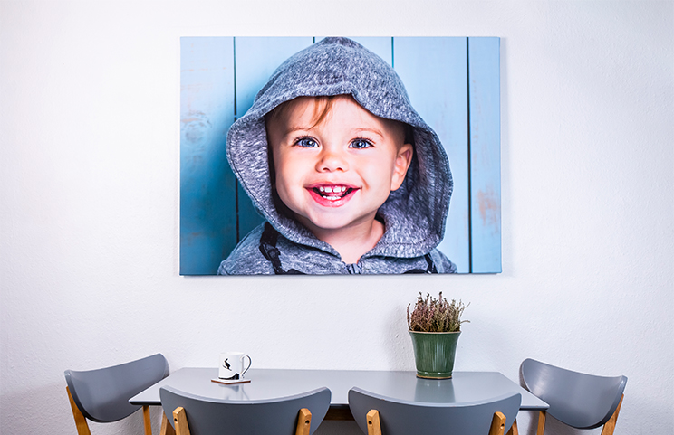 multiple canvas portraits Christmas gift theme